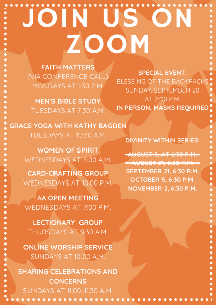 ZOOM Activities for September 20-26